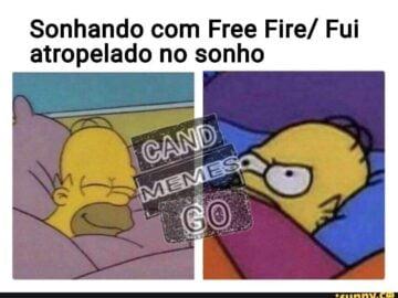 Sonhando com free fire