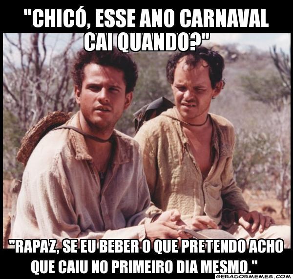 Chicó, esse ano cai quando o Carnaval ?